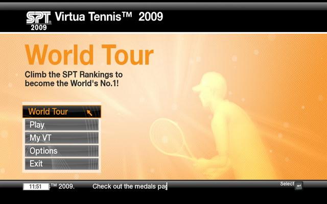 《VR网球2009》游戏截图